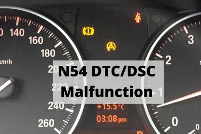 N54 DTC DSC Warning