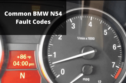 Common N54 Fault Codes
